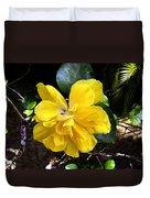 Double Hibiscus Costa Rica Duvet Cover