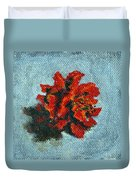 Double Hibiscus Duvet Cover