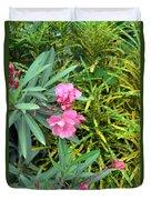 Double Oleander Duvet Cover