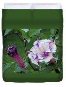 Double Purple Datura 6 Duvet Cover