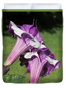 Double Purple Datura 8 Duvet Cover