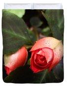 Double Rose Impatiens Duvet Cover