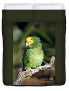 Double Yellow Headed Parrot Duvet Cover
