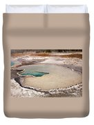 Doublet Pool In Upper Geyser Basin In Yellowstone National Park Duvet Cover