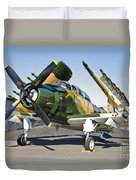 Douglas Ad-5 Skyraider Attack Aircraft Duvet Cover