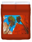 Douglas Firs On Wall Street On Navajo Trail In Bryce Canyon National Park-utah Duvet Cover