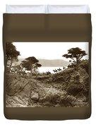 Douglas School For Girls At Lone Cypress Tree Pebble Beach 1932 Duvet Cover
