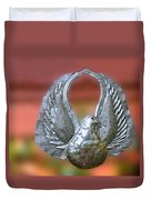 Garden Dove Of Peace Sculpture Duvet Cover