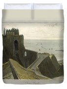 Dover Castle, From A Voyage Around Duvet Cover