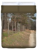 Down A Country Road Duvet Cover