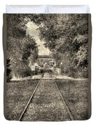 Down By The Tracks - Aged Duvet Cover