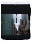 Down E 43rd Street N Y C Duvet Cover