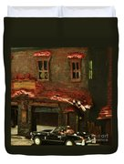 Down In The Alley Duvet Cover