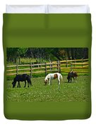 Down On The Ranch Duvet Cover