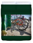 Down Spout And Bikes Duvet Cover