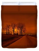Down The Haunting Road Under The Orange Sky Duvet Cover