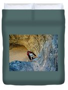 Down The Ladder In Big Painted Canyon Trail In Mecca Hills-ca  Duvet Cover