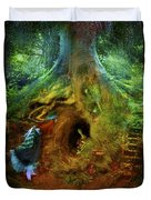 Down The Rabbit Hole Duvet Cover