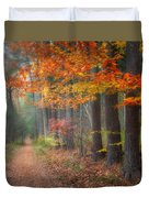 Down The Trail Square Duvet Cover by Bill Wakeley