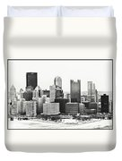 Cold Winter Day In Pittsburgh Pennsylvania Duvet Cover