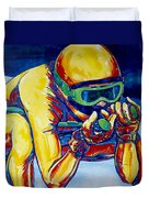 Downhill Racer Duvet Cover