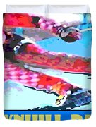 Downhill Racer Duvet Cover by Michael Moore