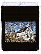 Downingtown Log House 1701 Duvet Cover