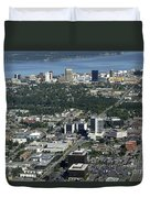 Downtown Anchorage Alaska Duvet Cover