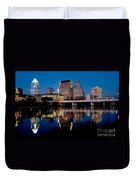 Downtown At Dusk Duvet Cover