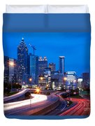 Downtown Atlanta At Dusk Duvet Cover