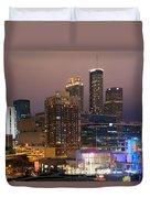 Downtown Atlanta Skyline At Dusk Duvet Cover
