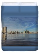 Downtown Baltimore And Harbor East Skylines Duvet Cover