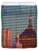 Downtown Boston Reflection Duvet Cover