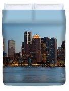 Downtown Boston Skyline Duvet Cover