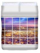 Downtown Boulder Colorado City Lights Sunrise  Window View 8lg Duvet Cover