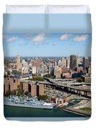Downtown Buffalo Skyline Duvet Cover