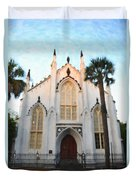 Downtown Charleston Church Duvet Cover