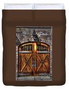 Downtown Charleston Sc Doors Duvet Cover