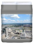 Downtown Cincinnati Form The Top Of Karew Tower 5 Duvet Cover