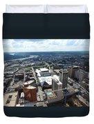 Downtown Cincinnati Form The Top Of Karew Tower Duvet Cover