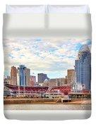 Downtown Cincinnati 9885 Duvet Cover