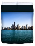 Downtown City Buildings In The Chicago Skyline Duvet Cover