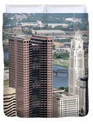 Downtown Columbus Duvet Cover