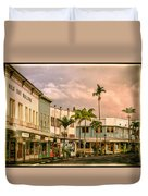 Downtown Hilo Sunday Morning Duvet Cover
