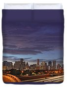 Downtown Houston After The Storm Duvet Cover