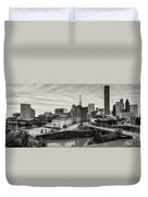 Downtown Houston From Uh-d Duvet Cover