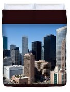 Downtown Houston Texas Duvet Cover