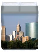 Downtown Indianapolis Indiana Duvet Cover