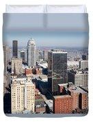 Downtown Louisville Kentucky Duvet Cover