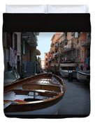 Downtown Manarola Duvet Cover